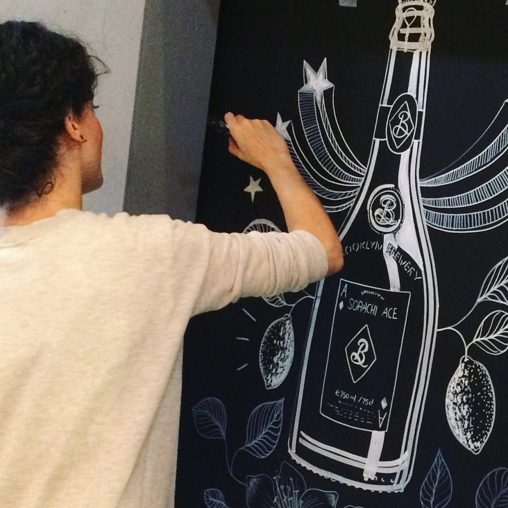 LIVE PAINTING by MARIVILLA at Stockholm Beer and Whisky Festival.JPG