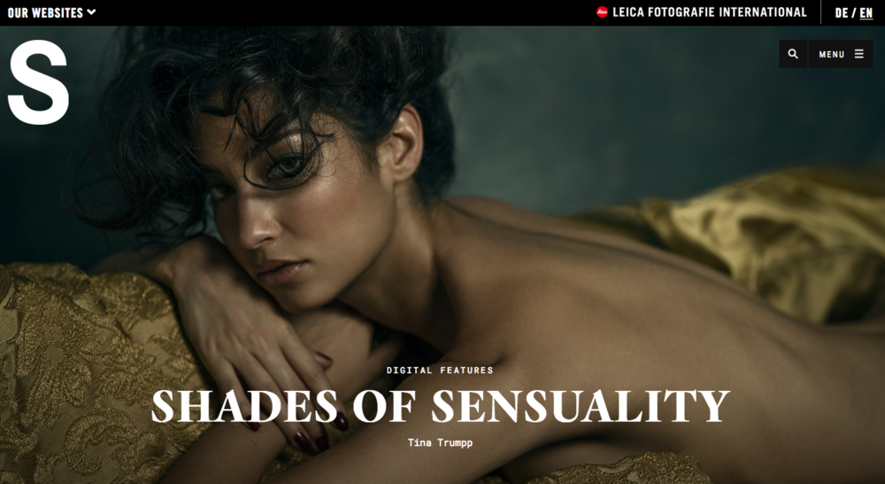 'Shades Of Sensuality' for Leica S Magazine, photographer Tina Trumpp