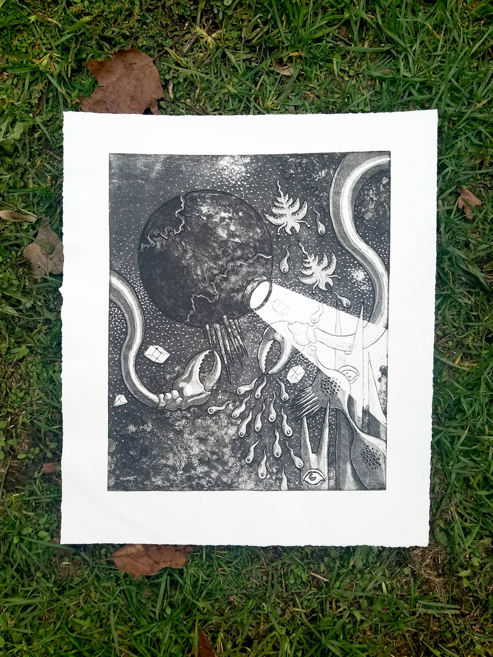 intaglio print with aquatint