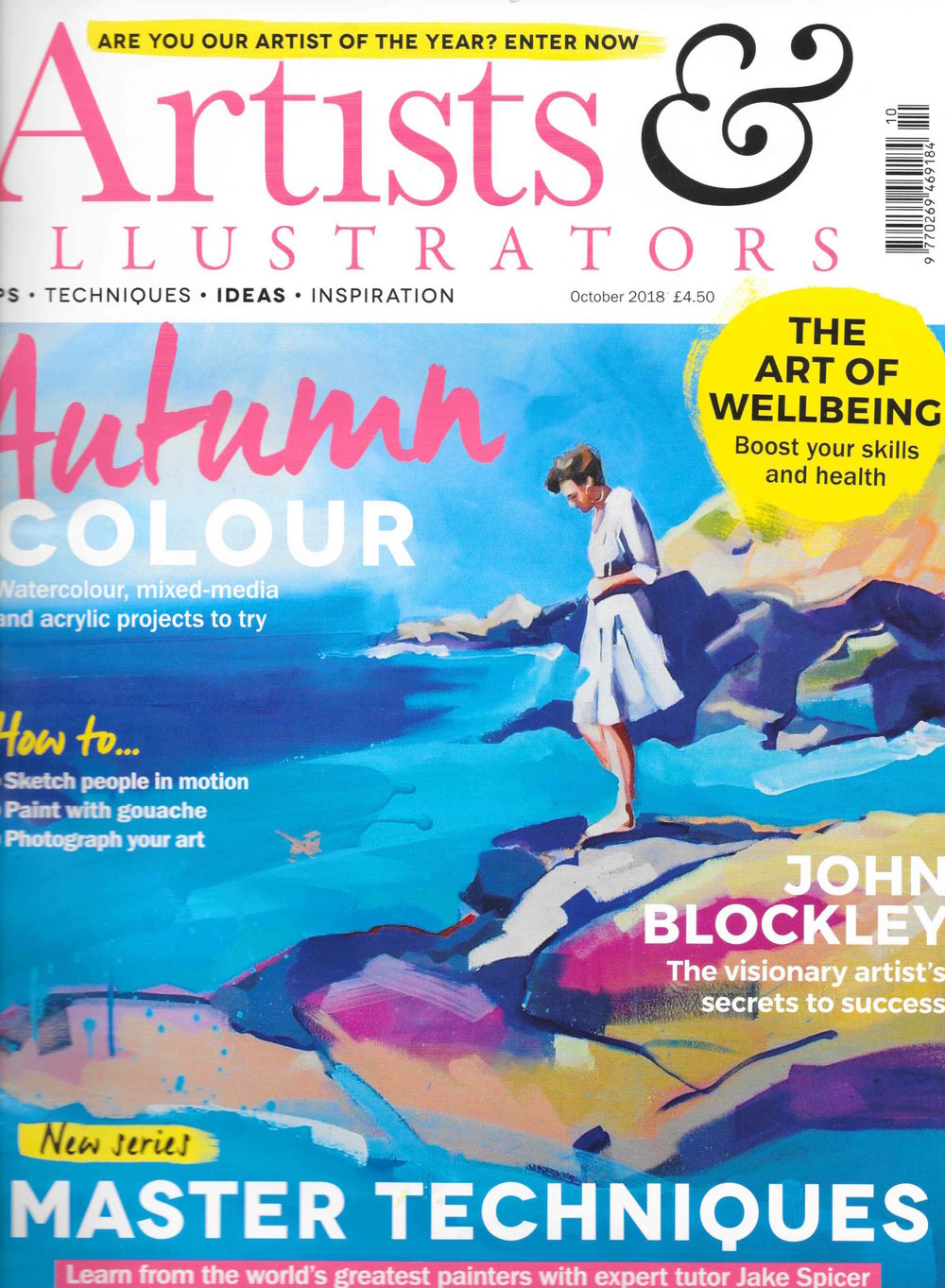 - Cover feature in Artist and Illustrators