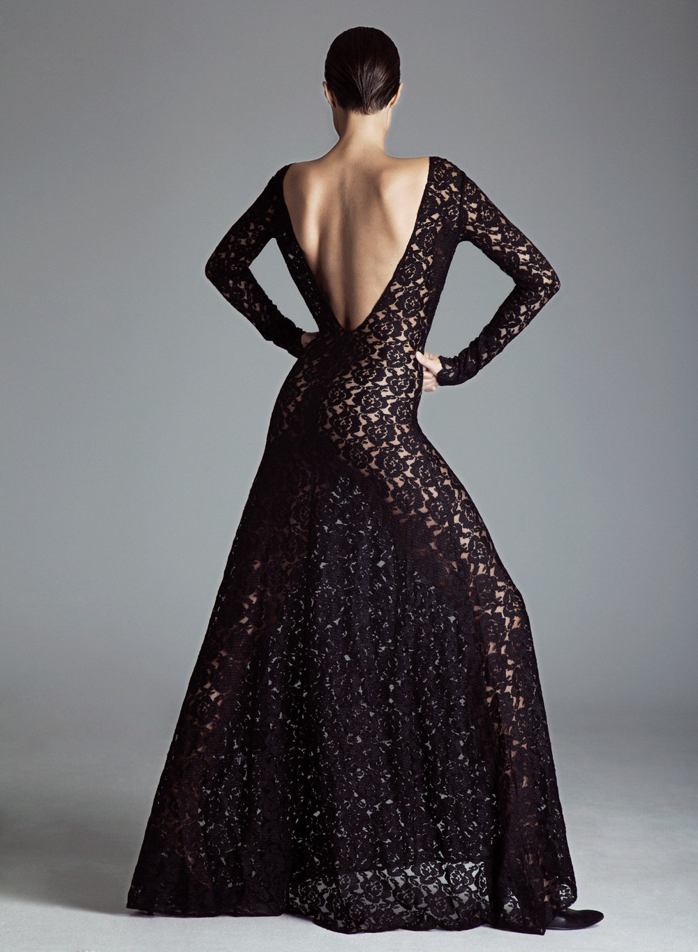 Long Lace Dress SOFIFI Black.png