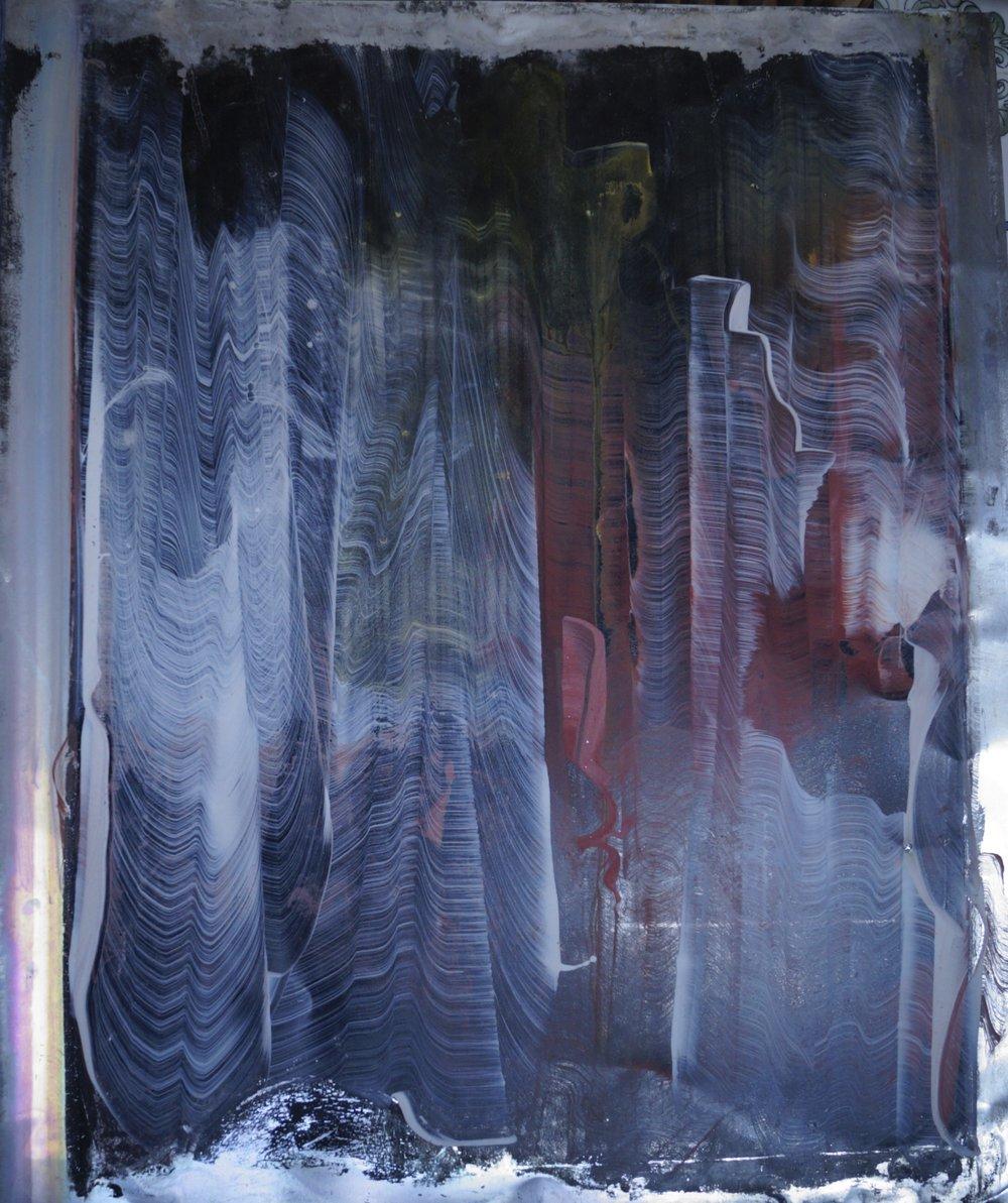 Sans voix II, Technique mixte sur plaque d' aluminium, 65cmx55cm, 2015