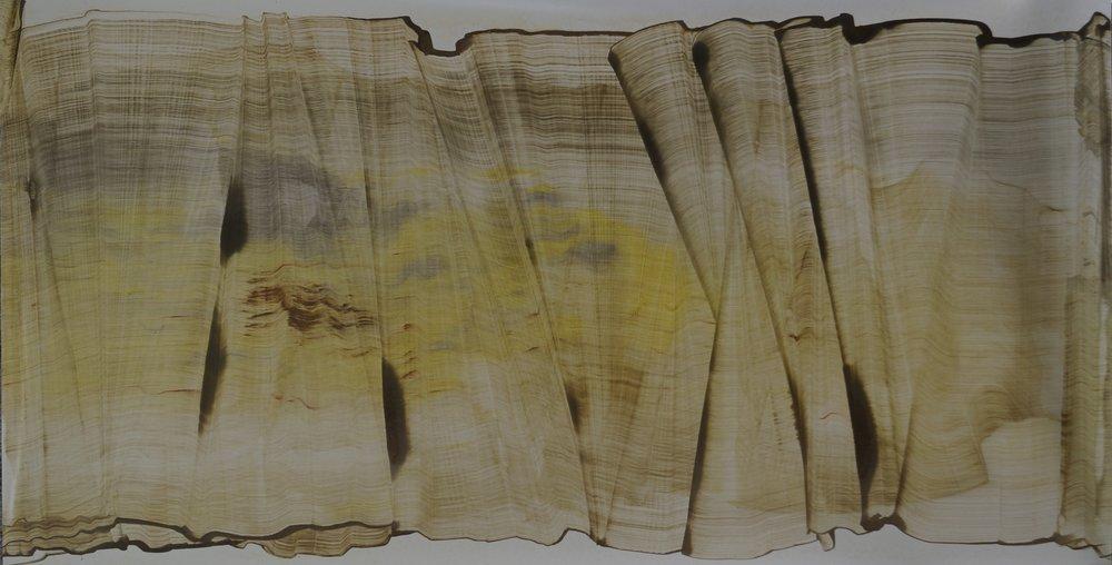 Sans titre, 118cm x 61cm ; Technique mixte sur vinyle, 2014
