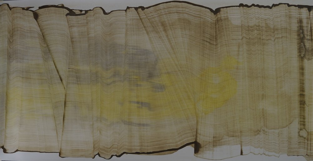 Sans titre, 117,5cm x 61cm ; Technique mixte sur vinyle , 2014