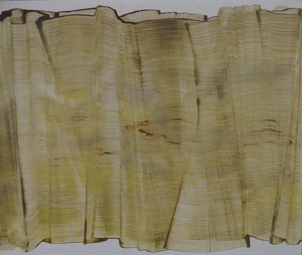 Sans titre, Diptyque, 118cm x 61cm ; Technique mixte sur vinyle , 2014