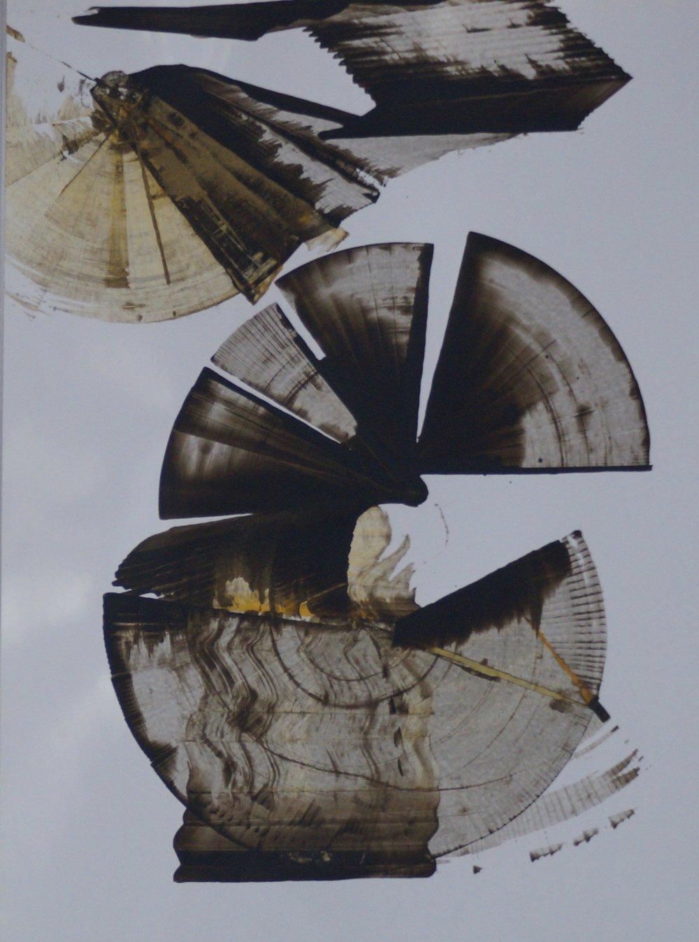 Sans titre, Encres sur papier photo , A3, 2013