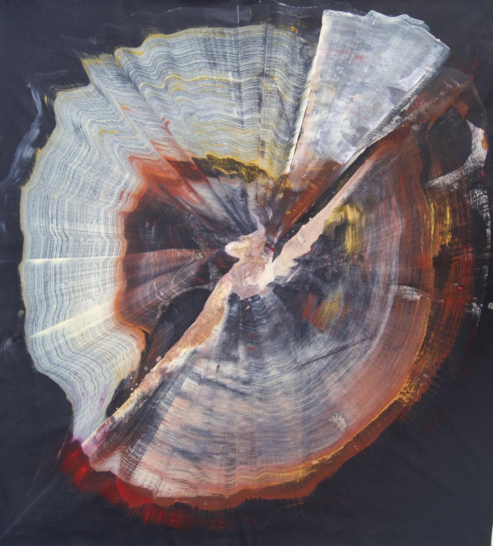 Sans titre, Technique mixte sur toile, 97cmx99cm, 2016