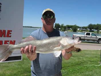 Robert Sheckler with a huge Sherman Walleye