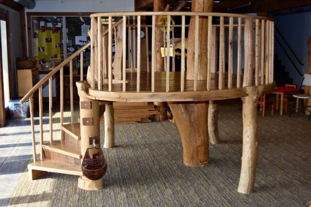 indoor treehouse, built with fellow Lucy School parent Joe Port
