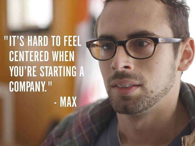 """""""I'm working really hard, I'm eating worse, I'm not going to the gym as much. And I have to make so many decisions, especially as CEO, about work that are very stressful, that my personal decision making has become way worse."""" - Max #GenerationStartup"""