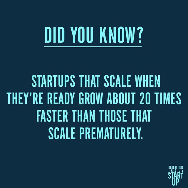 As eager as founders might be to scale up their company, doing it too quickly can hurt their growth and success. #GenerationStartup