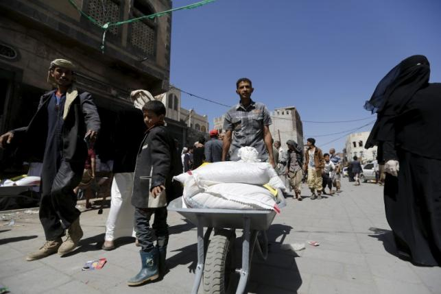 For March 24th - Aid being delivered in Yemen