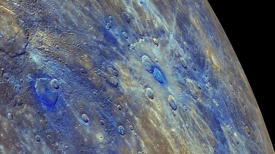 The surface of Mercury, taken from NASA's Messenger.