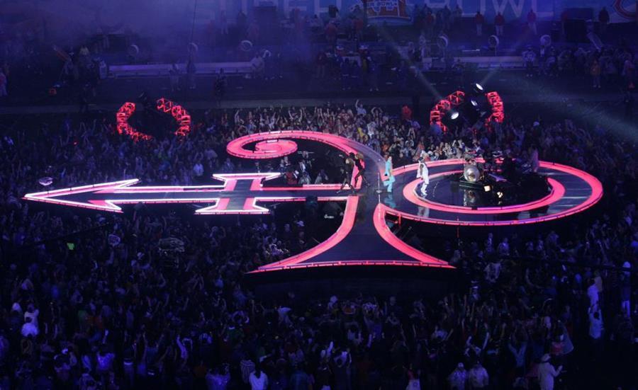 Prince performing at Super Bowl XLI