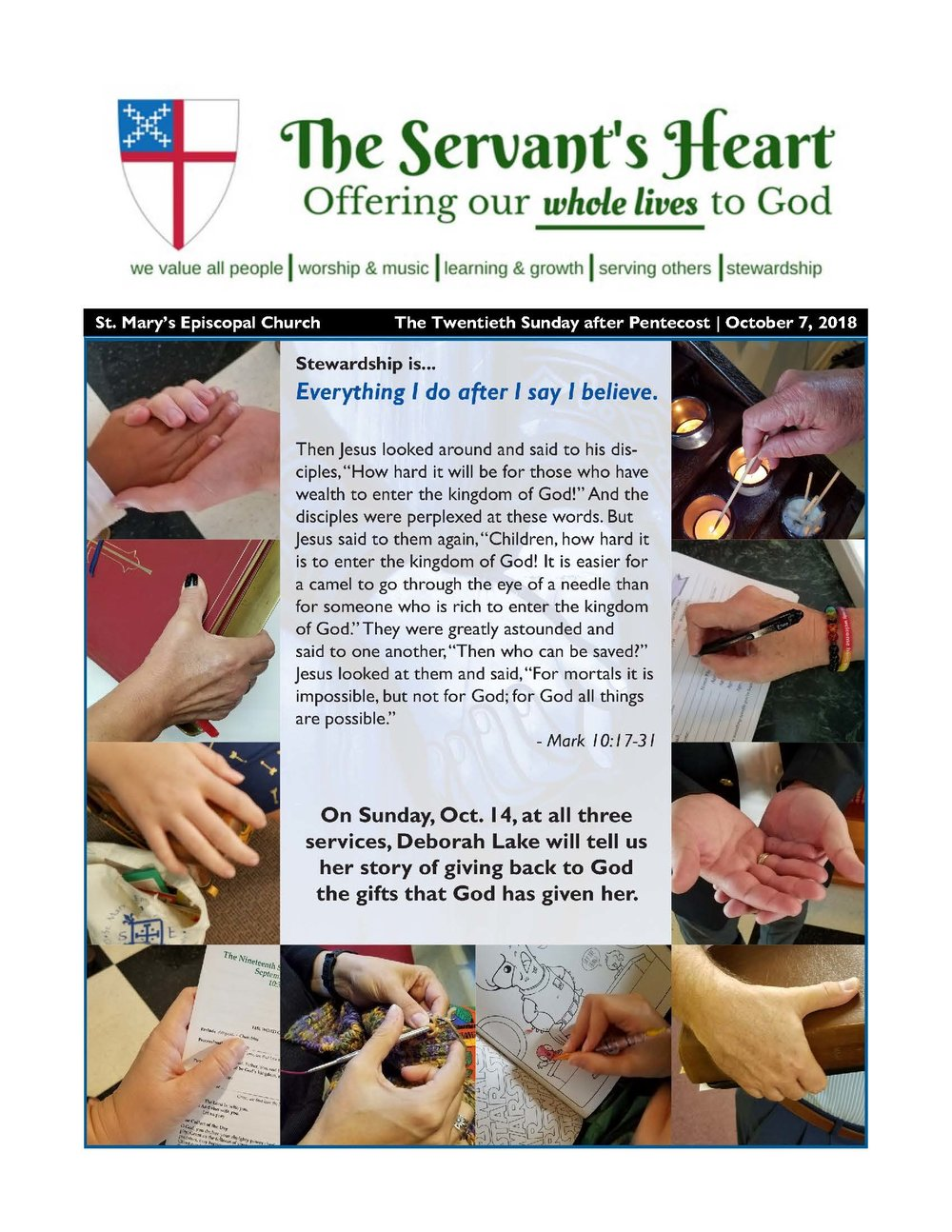 The Servants' Heart - 10/07/18 — St  Mary's Episcopal Church