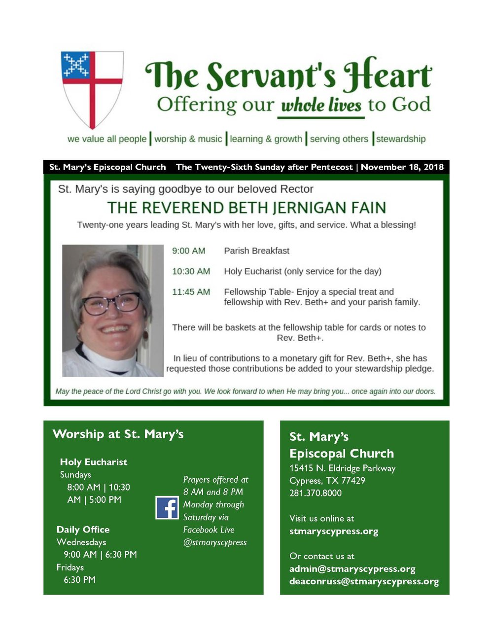 the servants heart newsletter st mary s episcopal church