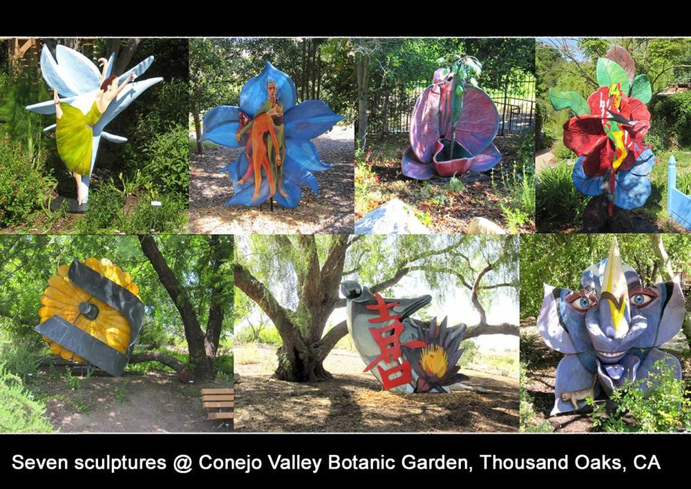 seven sculptures Conejo Valley Botanic Garden