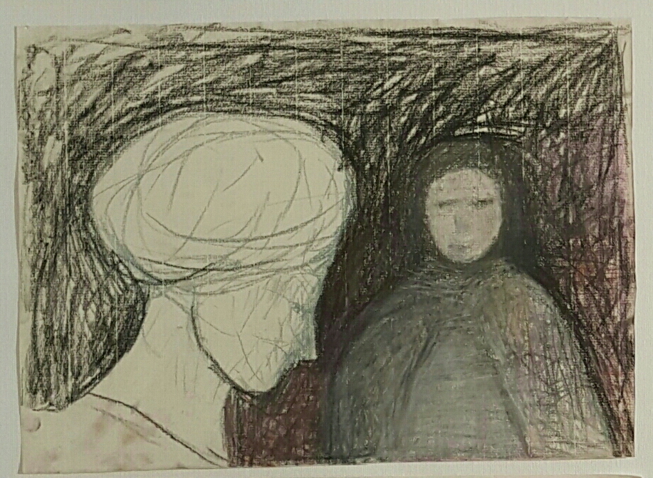 Ruti Ben Yaacov, Forgive Myself, 2017, pastel chalk and charcoal on paper, 25x34 cm