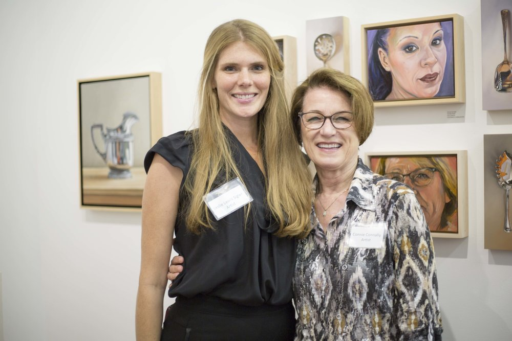Artists Leslie Lewis Sigler and Connie Connally