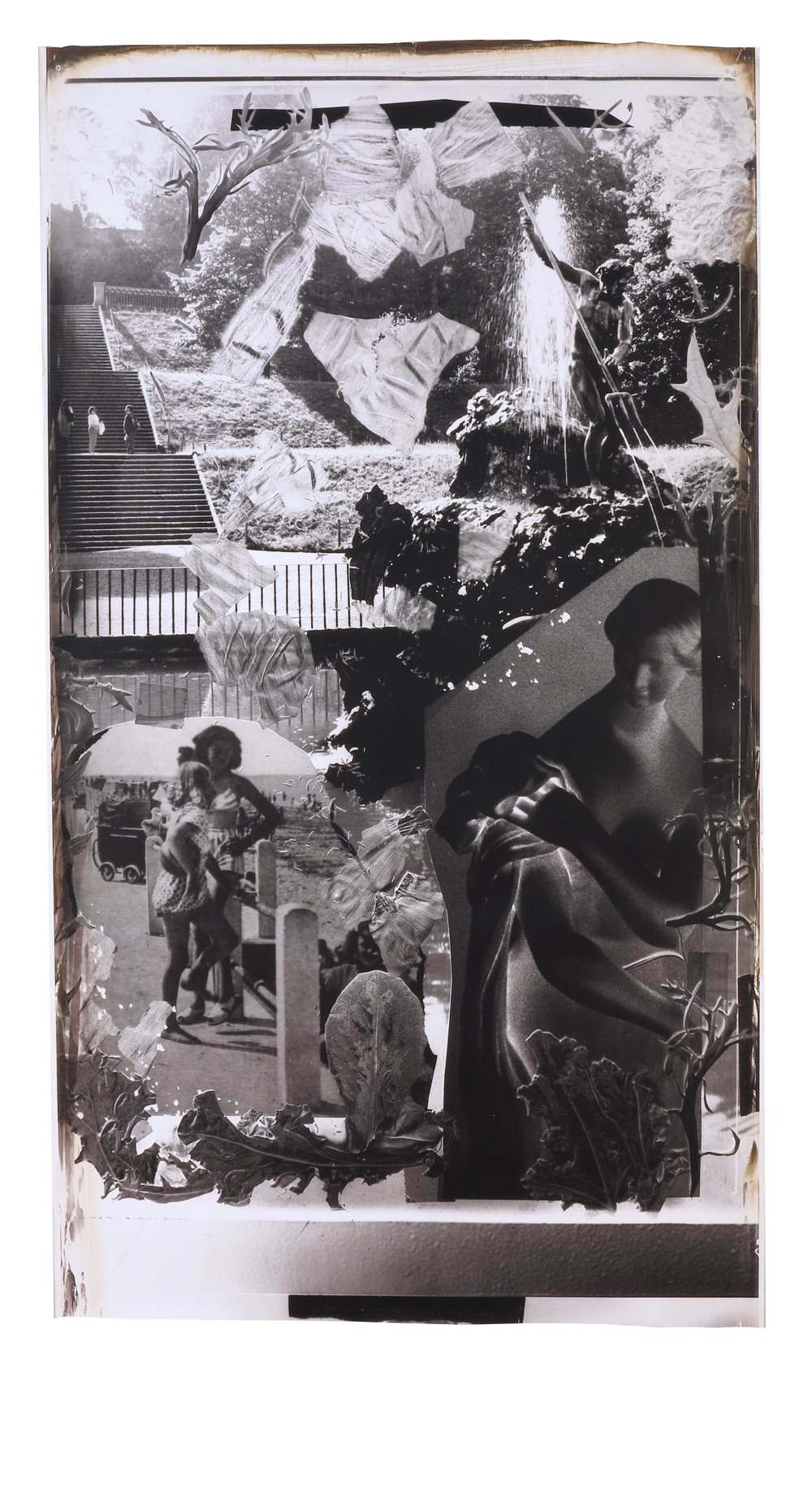Boboli Fountain of Neptune  1997  gelatin silver print  73 x 41 inches