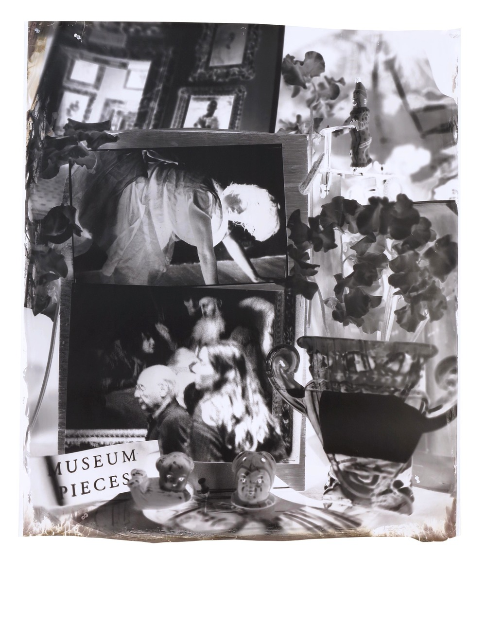 Museum Pieces and Rachel  1999  gelatin silver print  47.5 x 41 inches