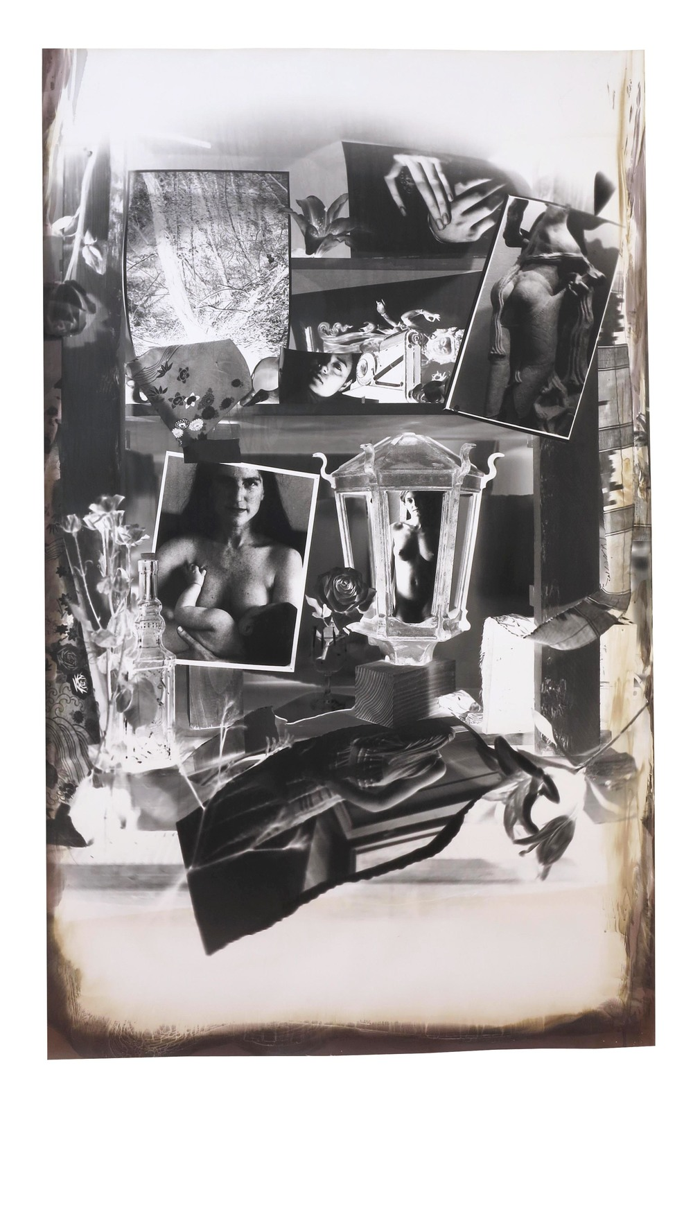 Ruth, Baby, Saskia, et al.  2004  gelatin silver print  69 x 41 inches