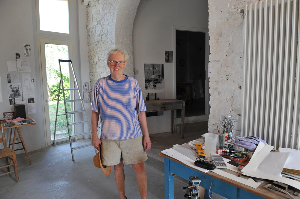 George Woodman in his studio.  Antella, Italy 2012
