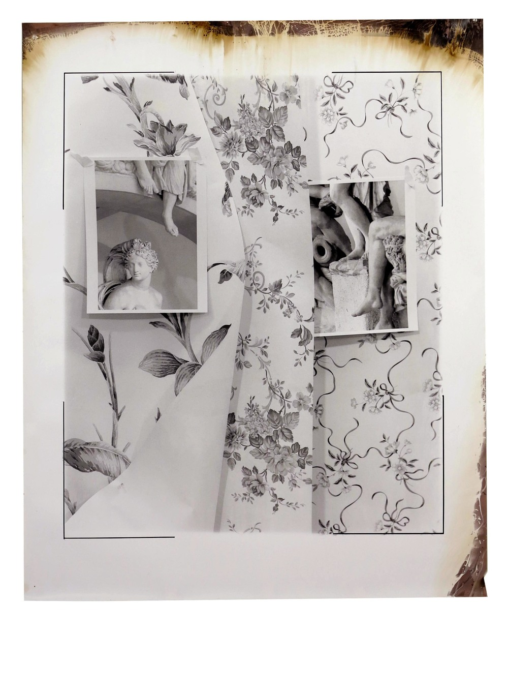 Ammannati Sculpture and Wallpaper I  2014  gelatin silver print  41.5 x 33 inches