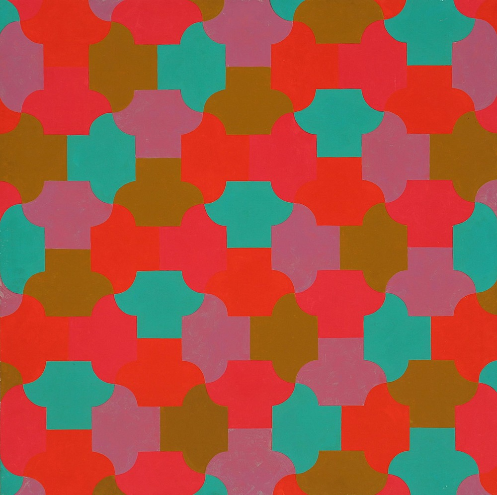 A Gentle Tesselation  1970  oil on canvas  48 x 48 inches