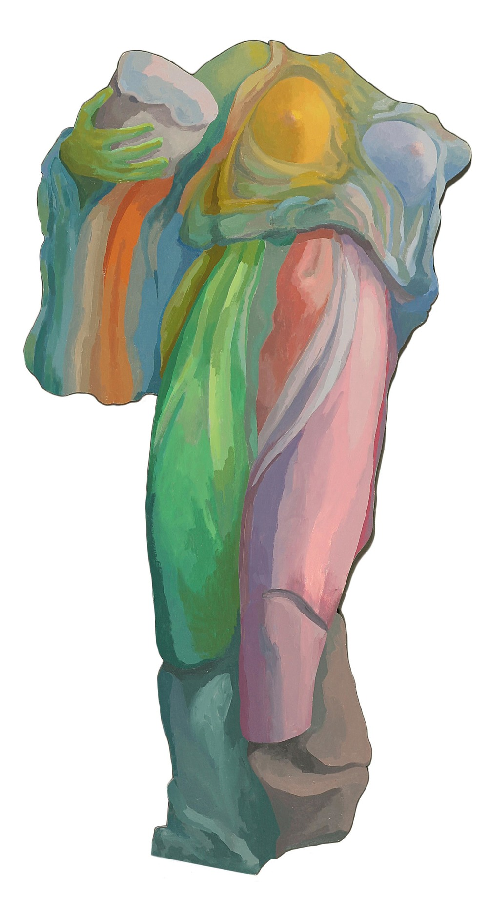 Athena with Helmet  1990  oil on canvas  68 x 34 inches