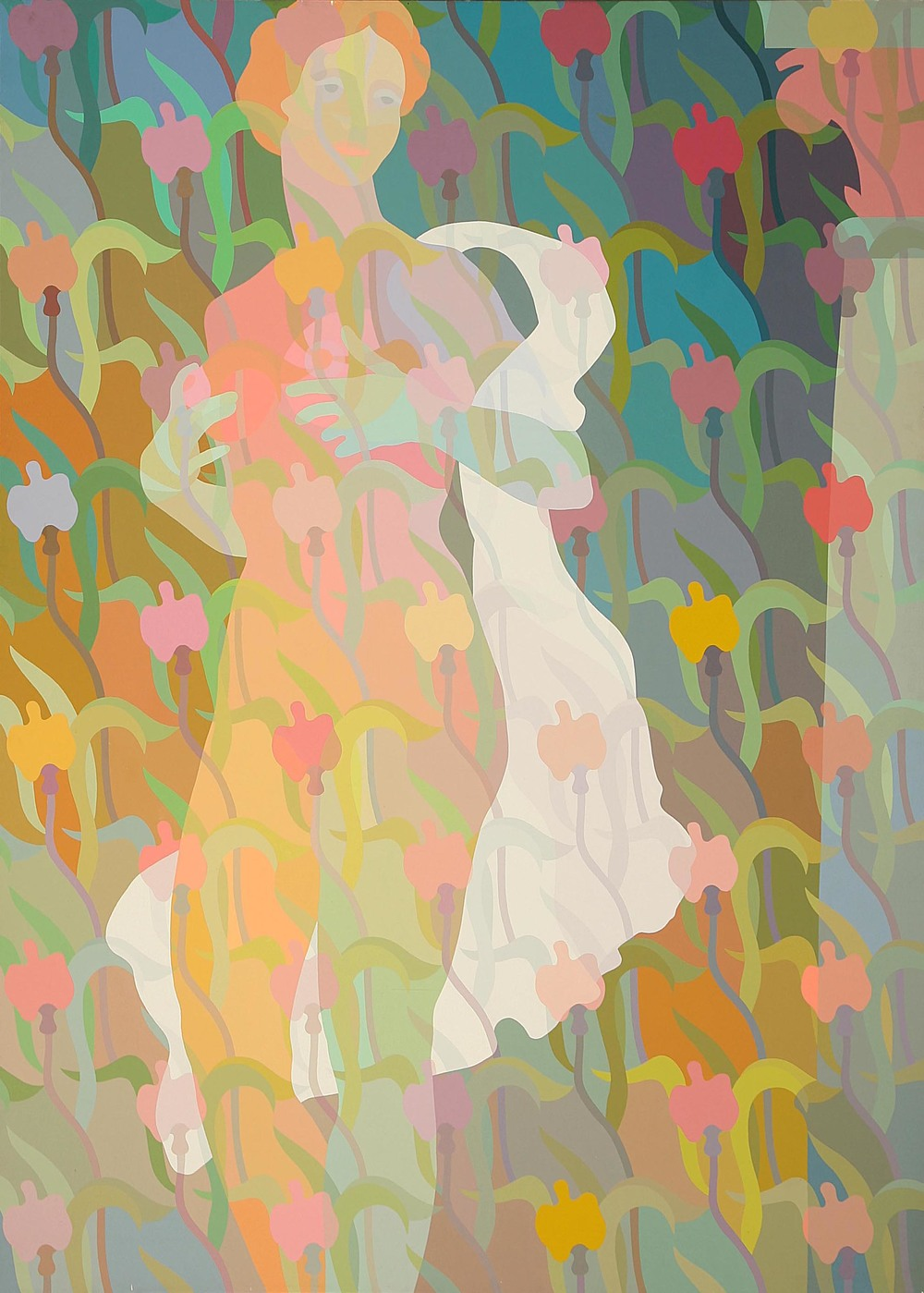 Bianca  1984  acrylic on canvas  86 x 63 inches