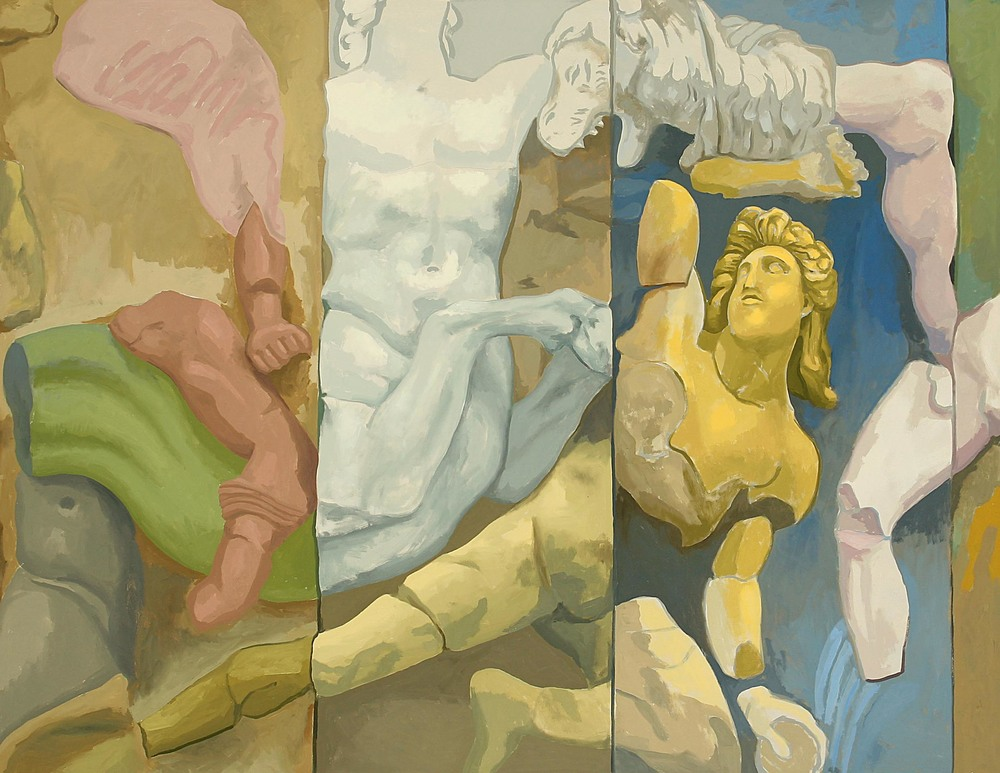 Centaurs and Giants  1993  oil on canvas  61 x 79 inches