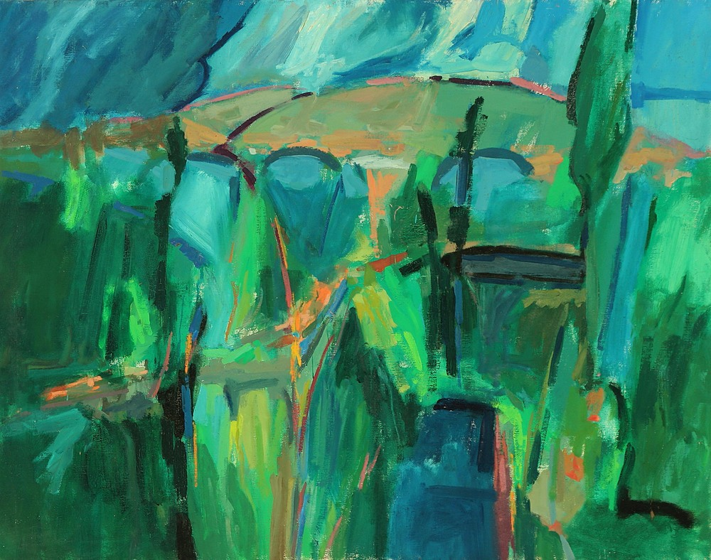 Sky Over Gamberaia  1960  oil on canvas  48 x 60 inches