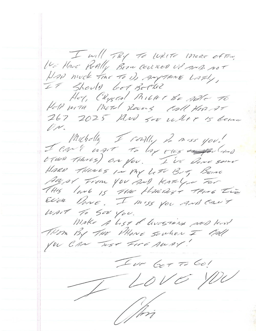 Letter from Chris to Michelle 2004 1-3-2.jpg