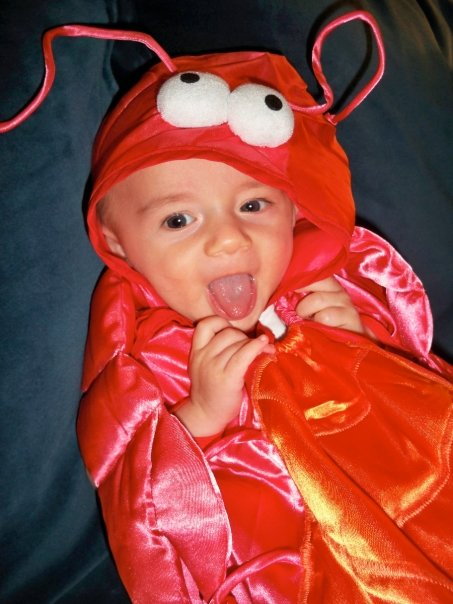 Crustacean Will, at four months...