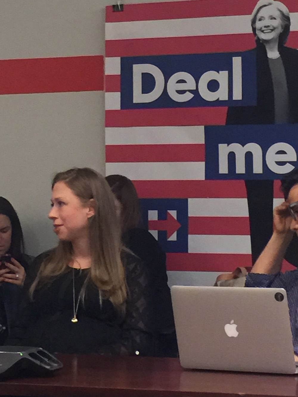 "SHE'S WITH HER: Chelsea Clinton says she's ""deeply biased"" toward her mom."
