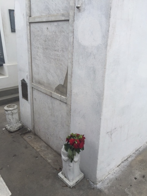marie leveau's tomb after it was re-painted and repaired