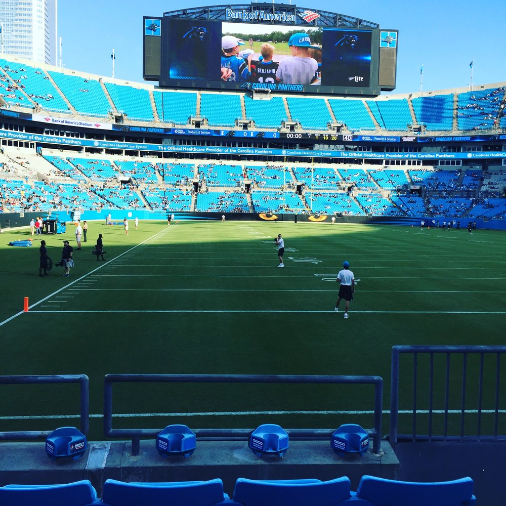 Bank of America Stadium, Charlotte, NC.
