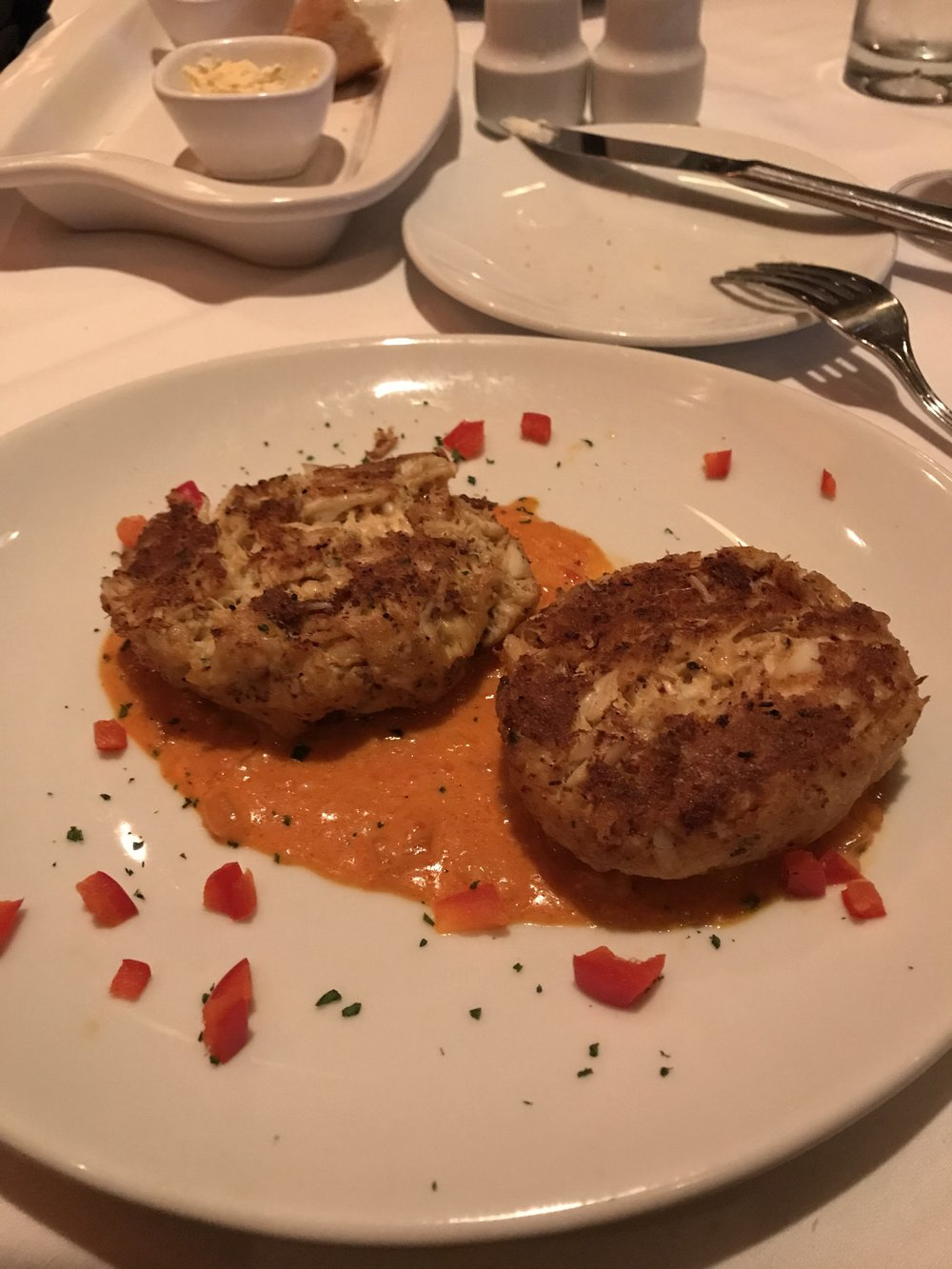 Crab Cakes .... amazingly delicious.