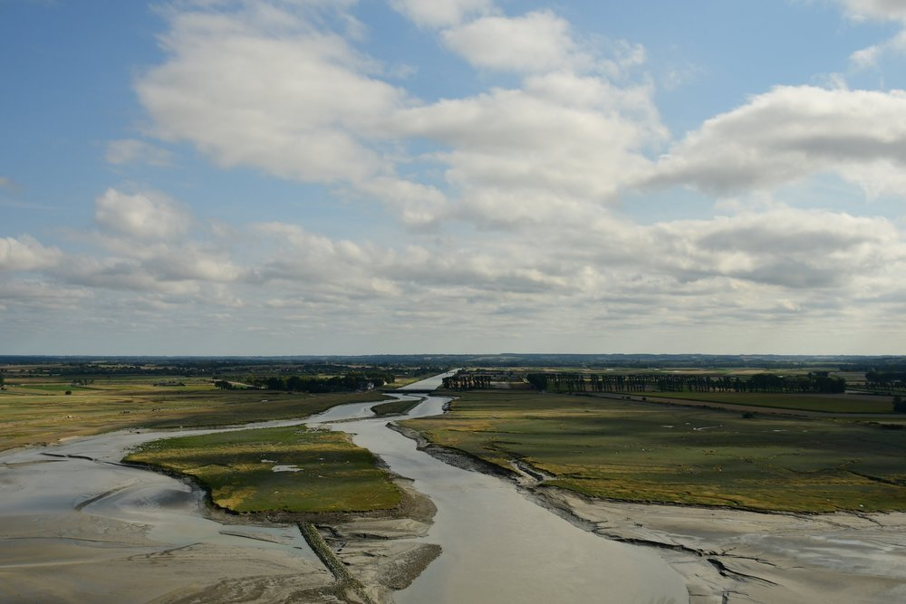 view from le mont saint michel, normandy