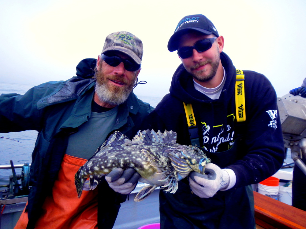 HSU Student Jay Stanton works with a volunteer angler to study the nearshore fish communities in a collaborative study lead by Dr. Tim Mulligan.
