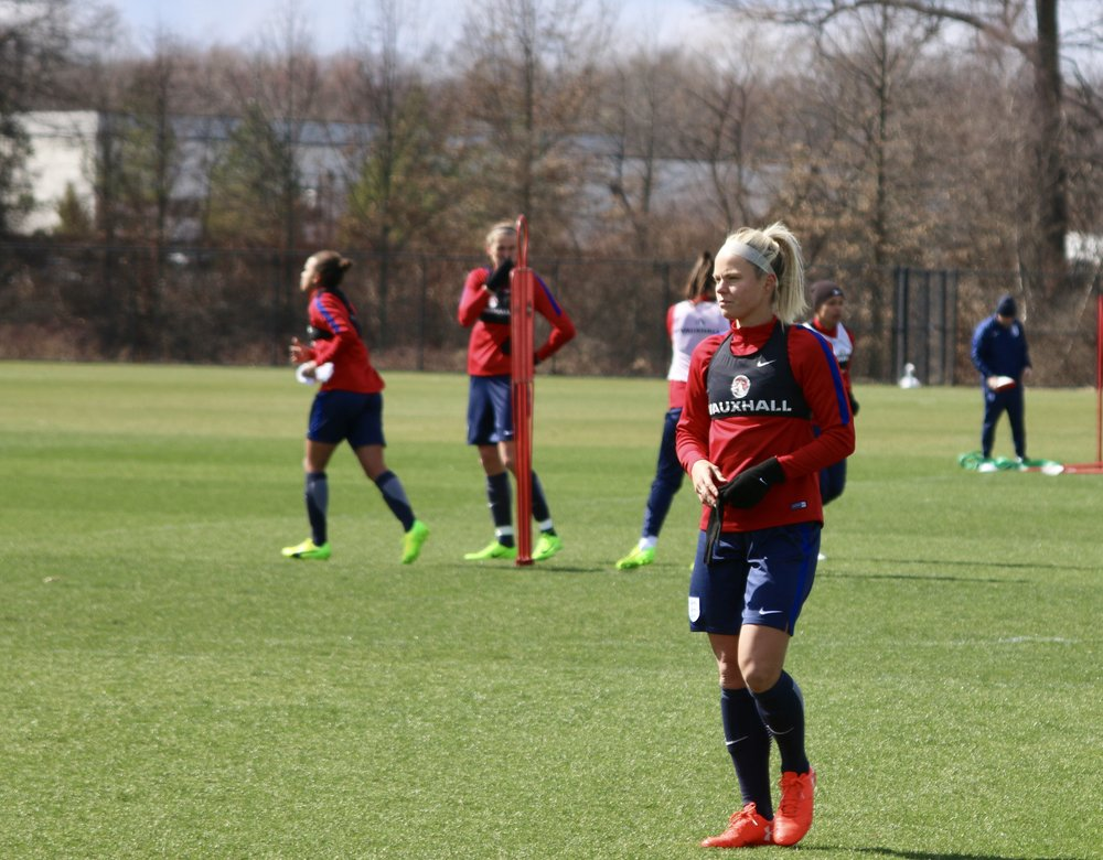 Rachel Daly looked in mid-season form against france, even though her houston dash NWSL season won't start for another few weeks. hard work works.