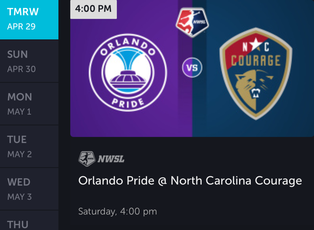 Another Home Game for the NC Courage, Another win.