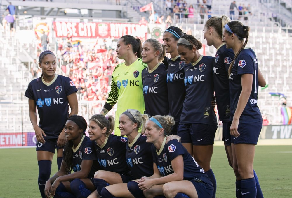 Your 2017 NWSL Championship starters for the NC Courage. Photo: @BDZsports