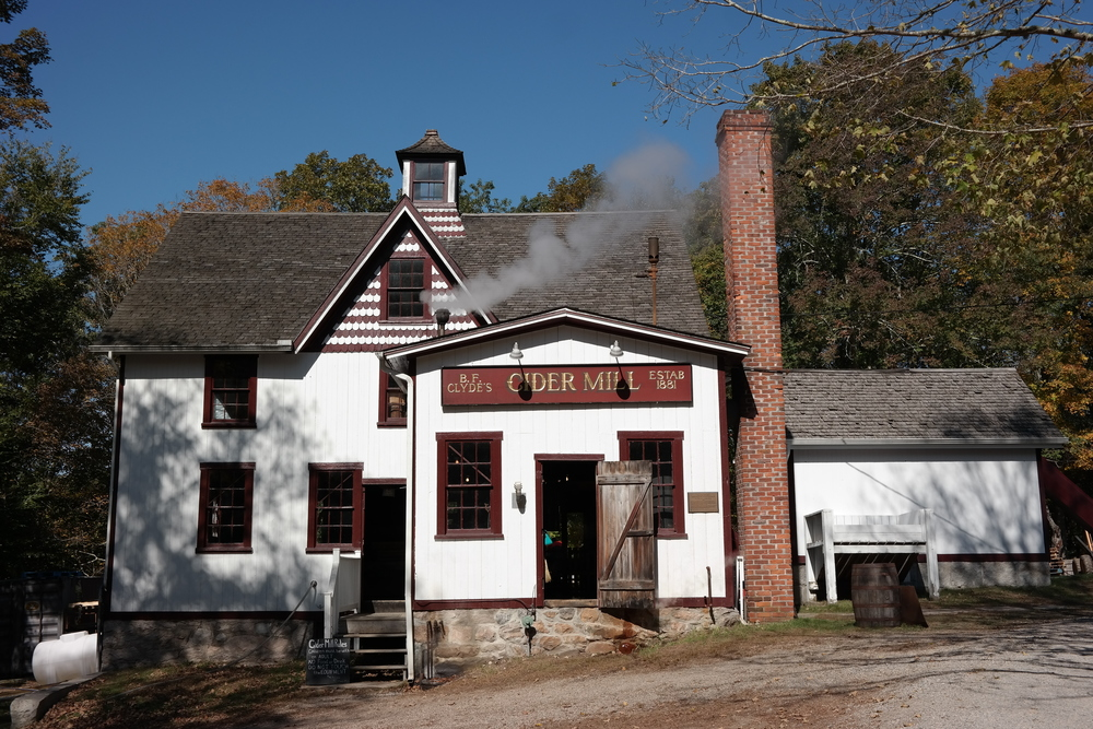 B.F. Clyde's Cider Mill - A great thing to visit on a fall day. Pumpkin patch, hard cider tastings, and a general store that sells homemade apple donuts and freshly pressed cider.