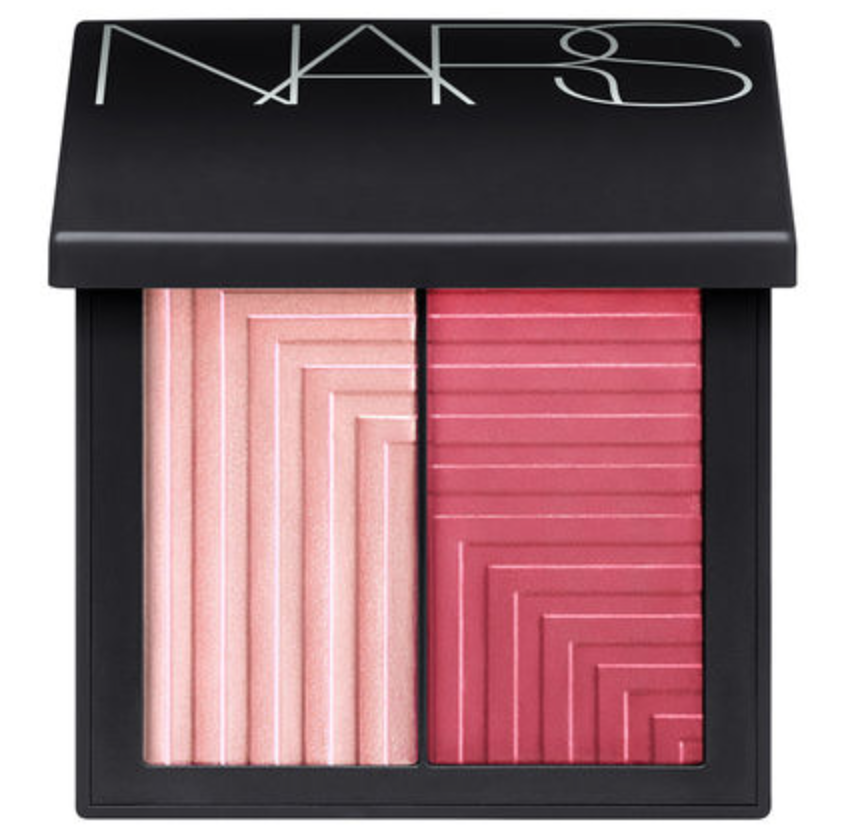 NARS Dual-Intensity Blush in Adoration ($45) - A bit more dough but it's worth it. You basically get 2-for-1 with this little rascal. The deeper pink is rich and luxurious looking while the lighter color is great for highlighting. I use the darker color first and then apply Benefit's High Beam above my cheekbone and outer eye area before adding the lighter color over it. Perfect for traveling.