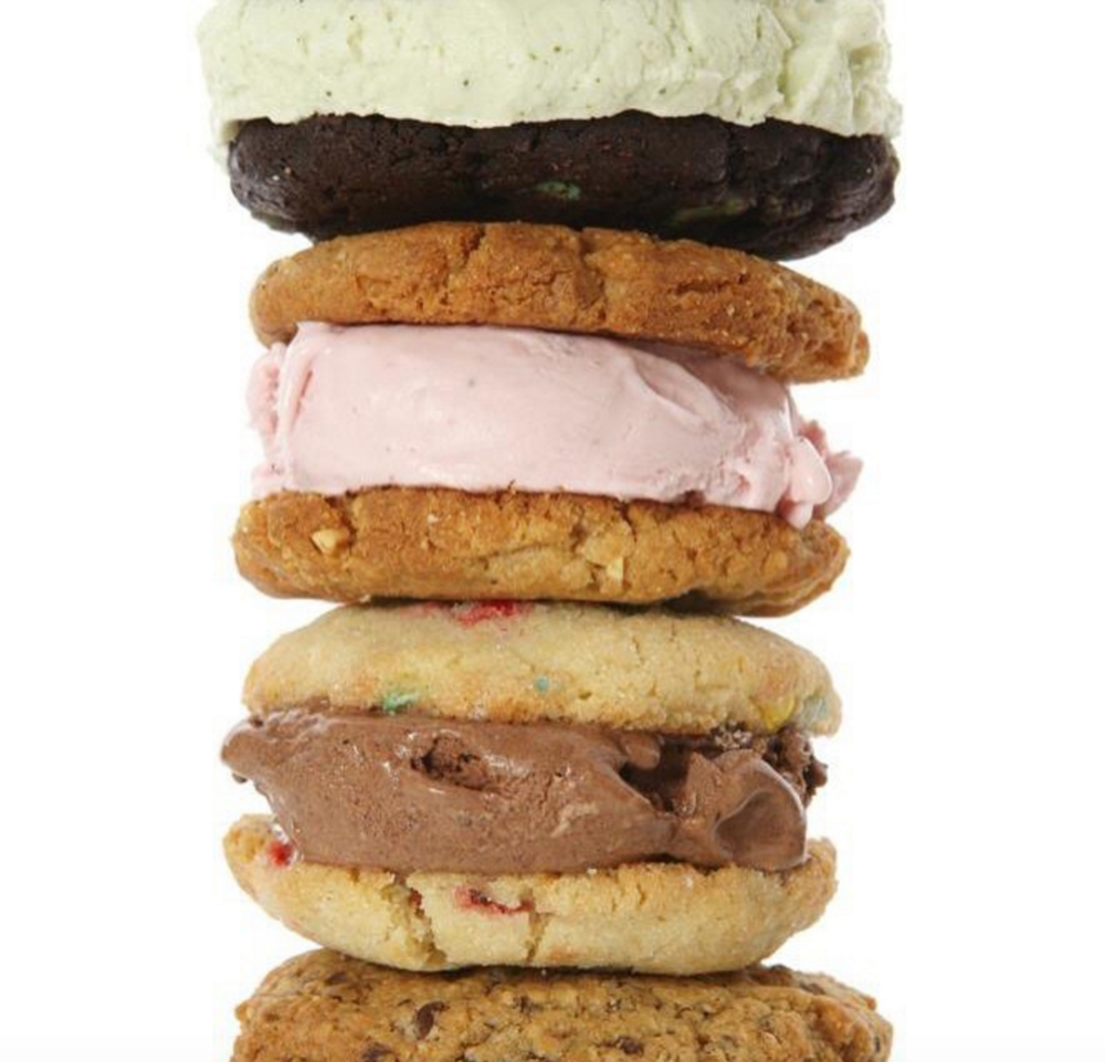10. Milk & Cookies: The Overload - I give this place major ice cream sandwich kudos. OMG. Remember Kudos? The Overload with peanut butter cookies and dark chocolate ice cream makes my stomach most happy. Also, this place smells like straight up butter. #lardlife