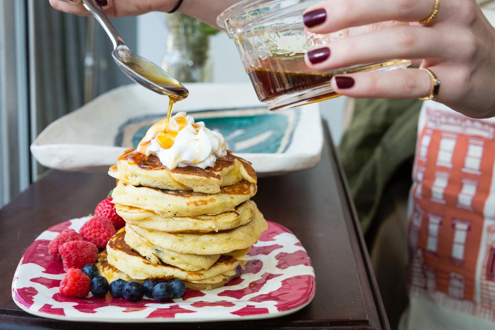 Lemon Blueberry Pancakes