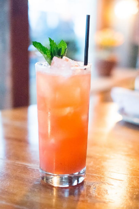 Mama's Lil' Helper - AVAILABLE AT BLUE WATER GRILLLangley's No. 8 GinLillet BlancStrawberry PureeFresh Lemon JuiceSimple SyrupSparkling Wine