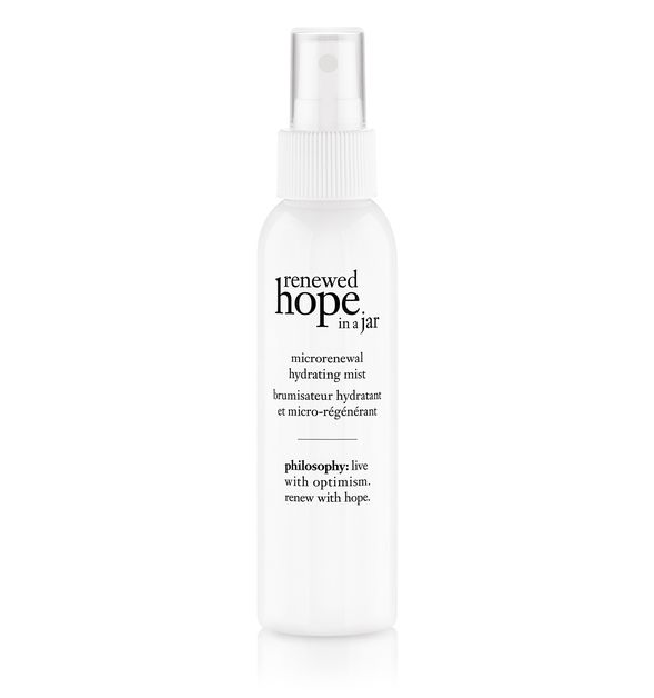 THE LOW DOWN: - Remember Hope in a Jar? That was my jam a decade ago. Now you can upgrade your Philosophy experience by trying their Renewed Hope in a Jar Microrenewal Hydrating Mist. This facial spray re-energizes skin, giving it a dewy glow while hydrating at the same time. It's also formulated with a liquid blend of renewed hope's exclusive non-stop skin renewal technology.The Deets:The ingredients are a little more fuzzy on this one but the number one component in this mist is water. So, again, I go back to my original statement. [see above]